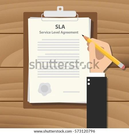 Sla Service Level Agreement Illustration Business Stock Vector - business service level agreement
