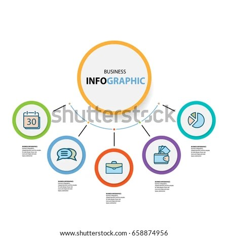 Abstract Circle Business Options Marketing Concept Stock Vector