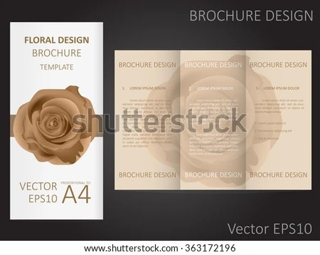 Valentines Day Wedding Brochure Template Rose Stock Vector 363172196 - wedding brochure template