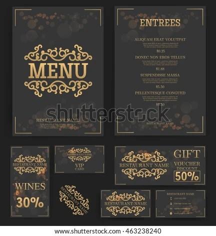 business menu template - Acurlunamedia