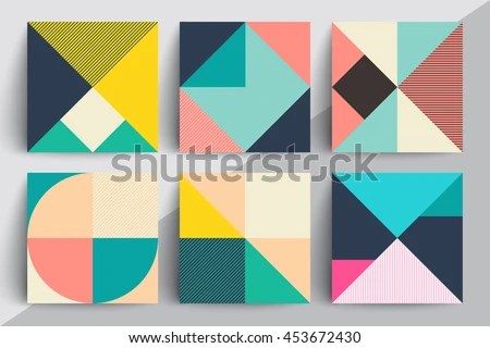 Set Geometric Design Cards Applicable Covers Stock Vector 453672430