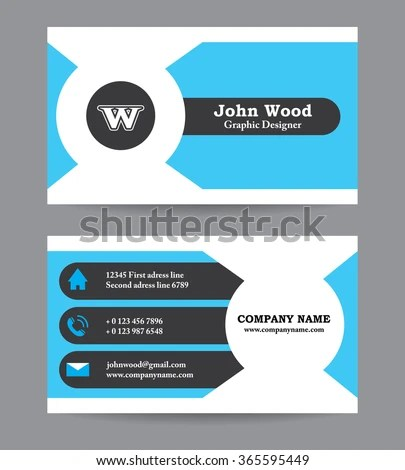 Modern Business Card Template Flat Design Stock Vector HD (Royalty - business card template design