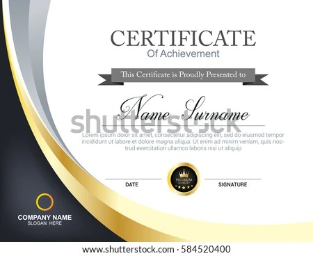 Vector Certificate Template Stock Photo (Photo, Vector, Illustration - certificate templat