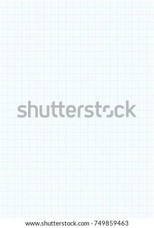 Graph Paper Background Vector Blue Plotting Stock Vector 749859463