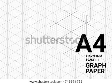 Isometric Graph Paper Background Plotting Triangular Stock Vector HD - engineering graph paper template
