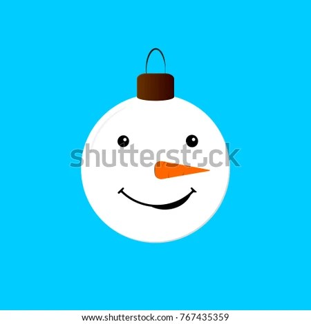 Tree Toy Icon Christmas Symbol Flat Stock Vector (Royalty Free - snowman face template
