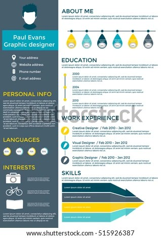 Job Resume Graphic Design Graphic Design Resume Designer Samples Examples Job Cv Template Stock Images Royalty Free Images And Vectors