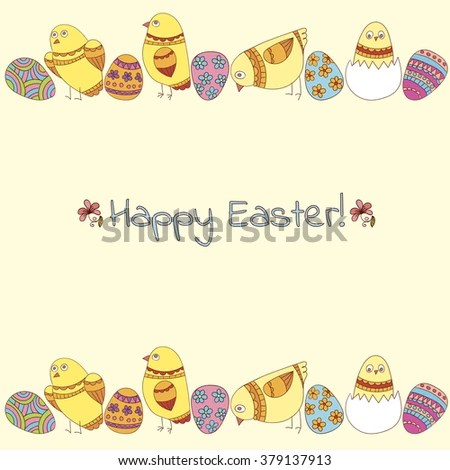 Easter Greeting Card Template Stock Vector 379137913 - Shutterstock