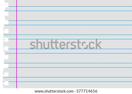 Double Lines Torn Paper Margin Stock Vector 377714656 - Shutterstock