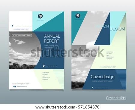 Vector Brochure Flyer Template Layout A 4 Stock Vector 571854370