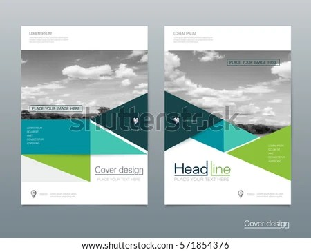 Vector Brochure Flyer Template Layout A 4 Stock Vector (Royalty Free