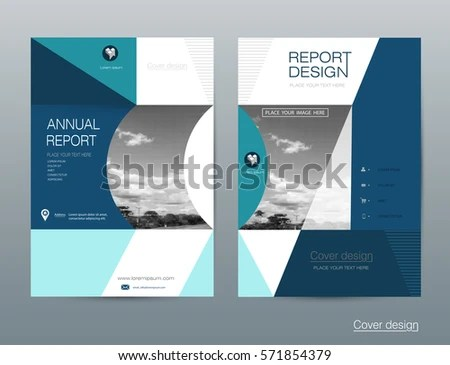 Vector Brochure Flyer Template Layout A 4 Stock Vector HD (Royalty