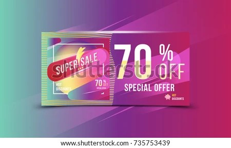 Super Sale 70 Off Discount Bright Stock Vector 735753439 - discount flyer template