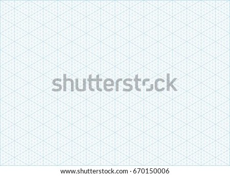 Blue Vector Isometric Grid Graph Paper Stock Vector HD (Royalty Free