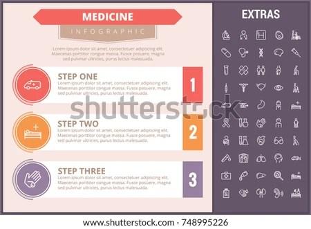 Medicine Infographic Timeline Template Elements Icons Stock Vector - medical timeline template