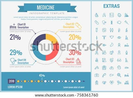 Medicine Infographic Template Elements Icons Infograph Stock Vector