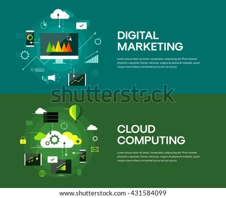 Cloud Computing Digital Marketing Presentation Infographic Stock - marketing presentation