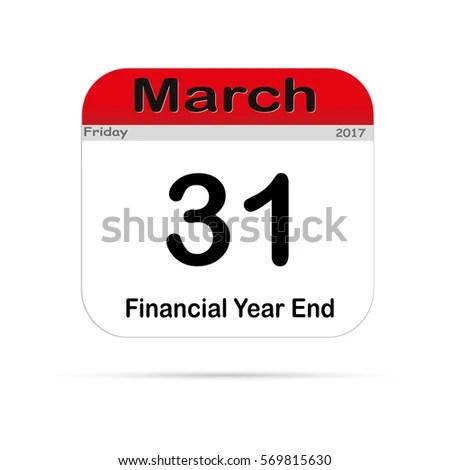 New Calendar End Fiscal Year On Stock Vector (2018) 569815630