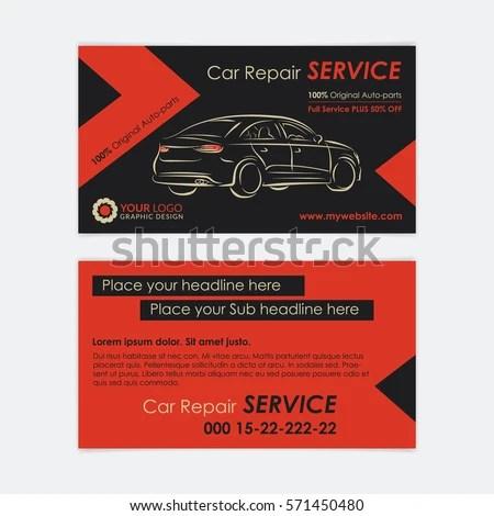 car mechanic business card - Pinarkubkireklamowe