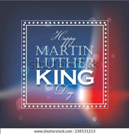 Happy Martin Luther King Day Greeting Stock Vector 238531213 - american flag background for word document
