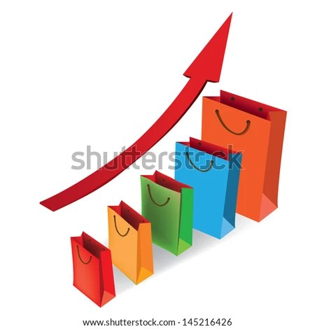 Sales Growth Chart Presenting Getting Better Stock Vector 145216426 - Sale Chart