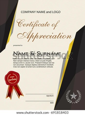certificate appreciation laurel wreath ribbon - Acurlunamedia
