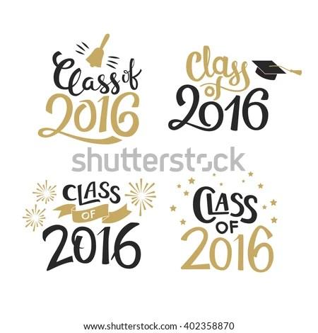 Set Graduation Labels Vector Isolated Elements Stock Vector - congratulation graduation