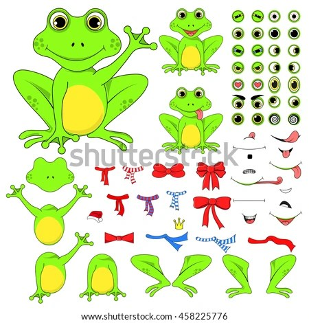 Frogs Set Body Parts Vector EPS Stock Photo (Photo, Vector - frog body