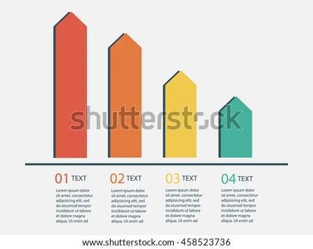 Bar Chart Template Vertical Bars Showing Stock Vector 458523736
