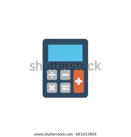 Simple Flat Style Electronic Calculator Buttons Stock Illustration - simple credit card calculator