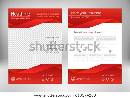 Red Geometric Flyer Cover Business Brochure Stock Vector (2018