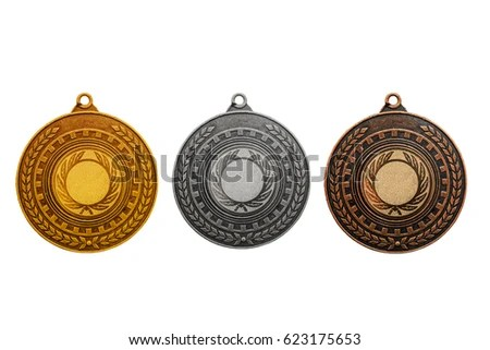 Blank Templates Medals Metal Texture Award Stock Photo (100 Legal - gold medal templates