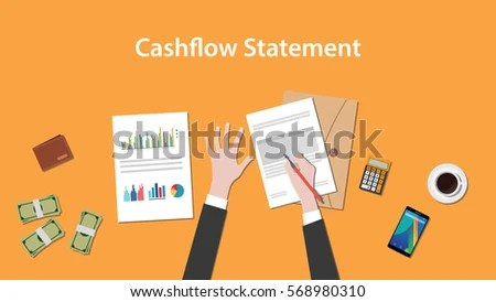 Write Count Cashflow Statement On Paperworks Stock Vector 568980310