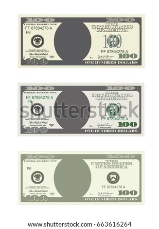 Dollar Currency Notes Vector Money Templates Stock Vector - money coupon template