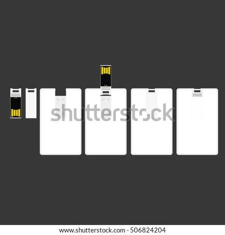 Usb Flash Card Empty Template Corporate Stock Vector 498872470 - flash card template