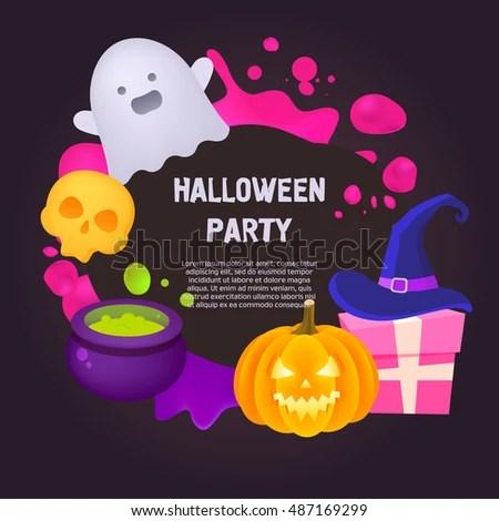 Halloween Flyer Template Stock Vector 487169299 - Shutterstock - halloween flyer template