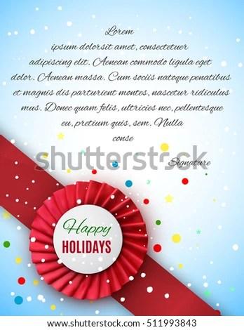 Christmas Certificate Template Luxury Satin Ribbon Stock Vector - christmas certificate template