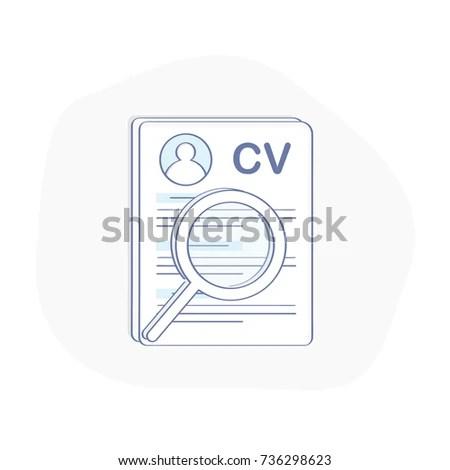 Cv Icon Concept Curriculum Vitae Resume Stock Vector 736298623