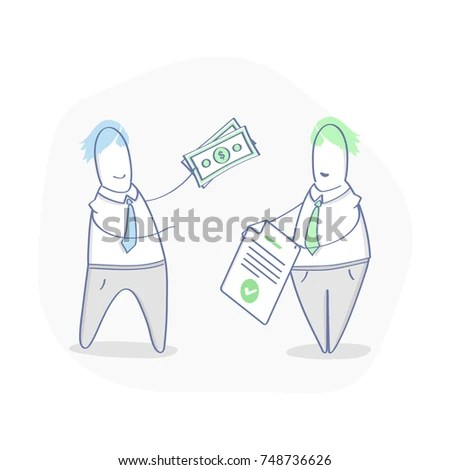 Make Deal Get Money Investment Contract Stock Vector (Royalty Free - business investment contract
