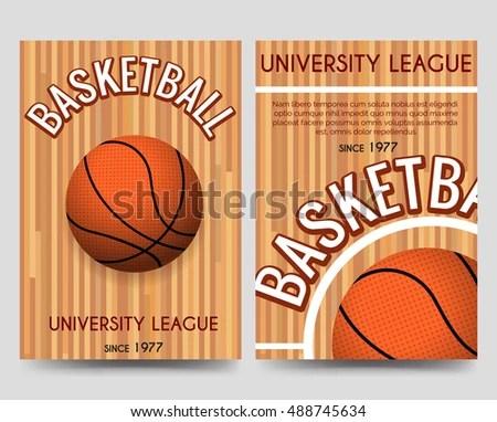 Basketball Sport Club Brochure Flyers Template Stock Vector - basketball flyer example