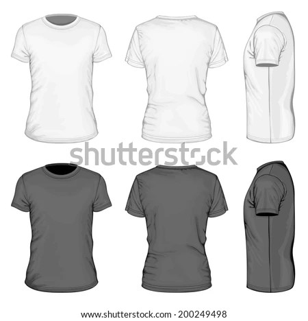 Vector Mens Tshirt Design Template Front Stock Vector 81672982 - t shirt template