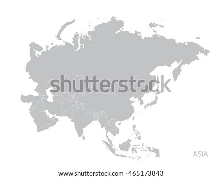 Map Asia Continent Stock Vector 465173843 - Shutterstock