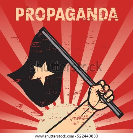 Propaganda Poster Template Stock Photo (Photo, Vector, Illustration