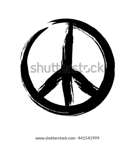 The Yellow Wallpaper Symbolism Quotes Sign Pacifist Peace Symbol Drawn By Stock Vector 441541999