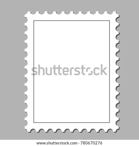 Clean Postage Stamp Template Background Vector Stock Vector (Royalty - stamp template