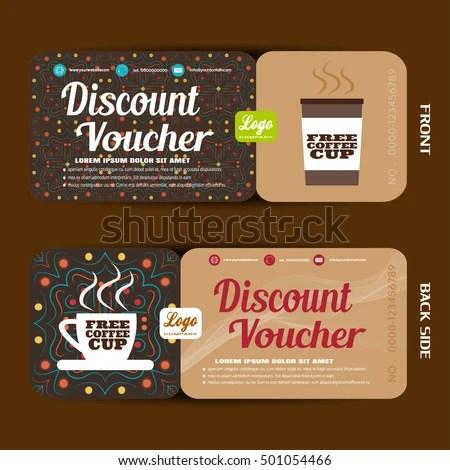 Discount Voucher Vector Illustration Increase Sales Stock Photo