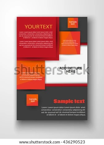 Vector Design Red Black Flyer Template Stock Photo (Photo, Vector - black flyer template