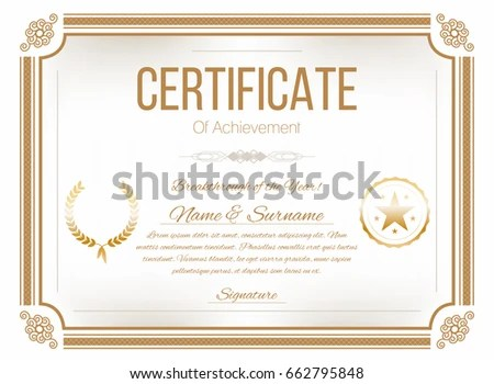 Certificate borders templates resume templateasprovider gold certificate border stock images royalty free images certificate borders templates yelopaper Image collections