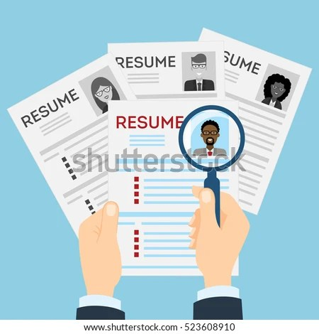 Resumes Magnifier Table Cv Resume Concept Stock Illustration