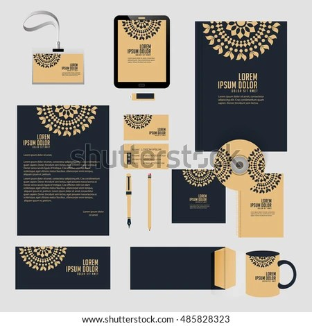 Creative Vector Templates Office Stationery Nice Stock Vector HD - Nice Templates